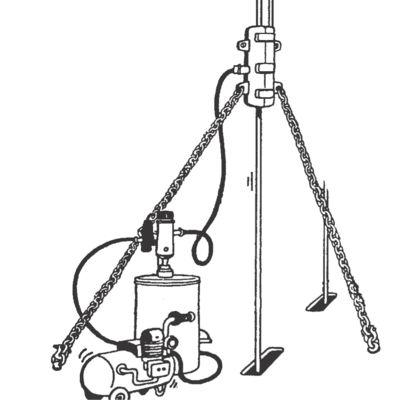 A high pressure equipment which lubricate all ropes both outside and inside.